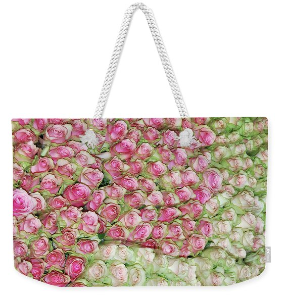 Weekender Tote Bag featuring the photograph Empress Josephine's Roses by JAMART Photography