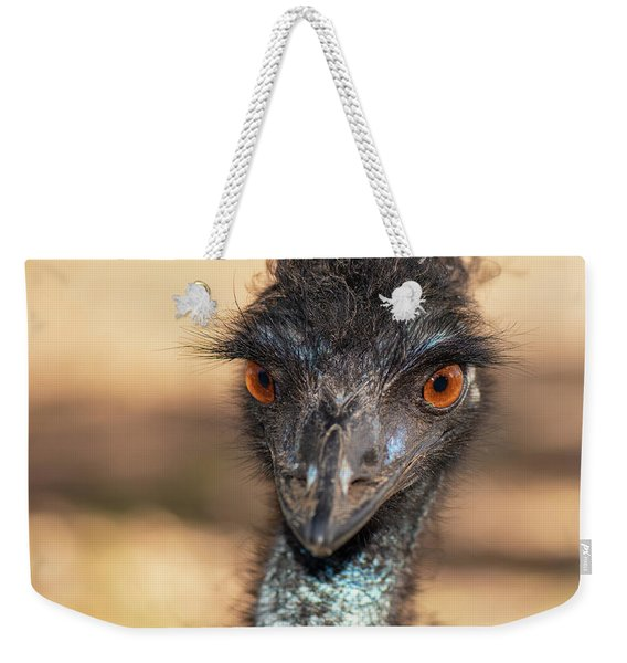 Emu By Itself Outdoors During The Daytime. Weekender Tote Bag