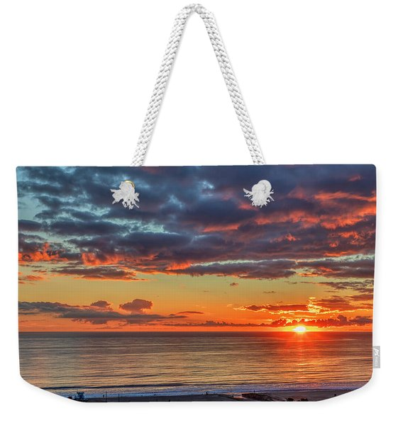 End Of Day Light Show Weekender Tote Bag