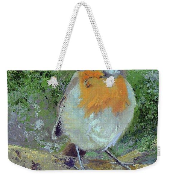 English Robin Weekender Tote Bag