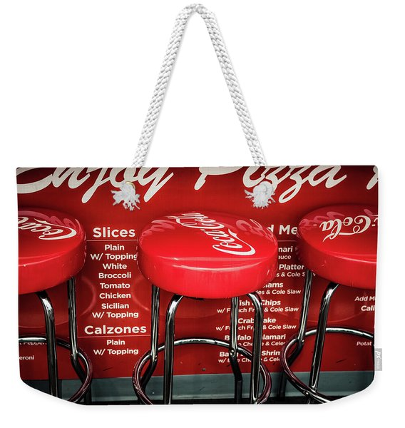 Enjoy Pizza And A Coke Weekender Tote Bag