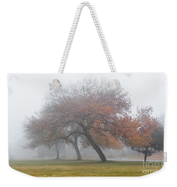 Enveloping Fog Weekender Tote Bag