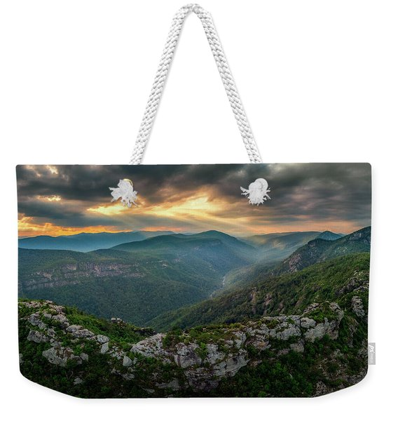 Epic Linville The Chimneys Weekender Tote Bag