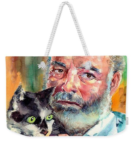 Ernest Hemingway Portrait Weekender Tote Bag