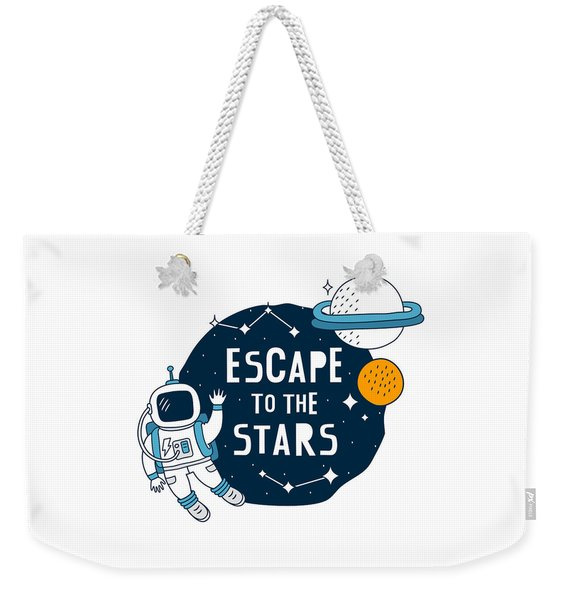 Escape To The Stars - Baby Room Nursery Art Poster Print Weekender Tote Bag
