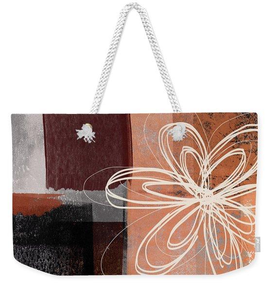Espresso Flower 1-  Art By Linda Woods Weekender Tote Bag