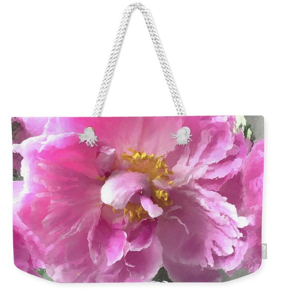 Ethereal Pink Impressionistic Watercolor Peony - Pink Watercolor Impressionistic Pink Peonies Floral Weekender Tote Bag
