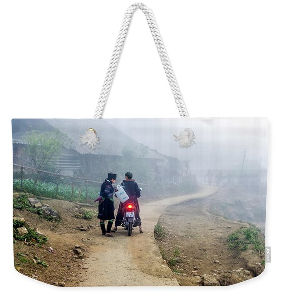 Ethnic Minority On The Road In Sapa, Vietnam Weekender Tote Bag