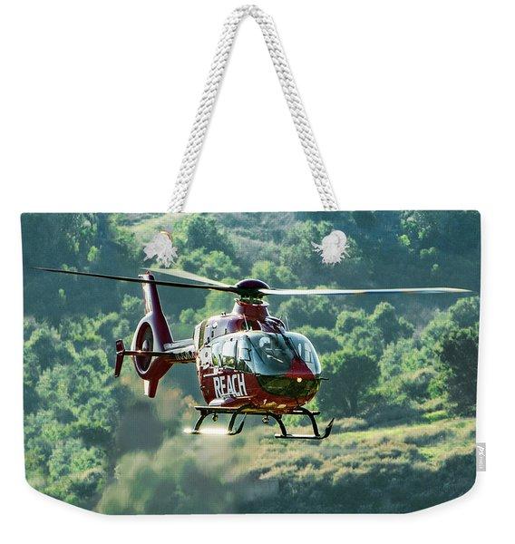 Eurocopter Ec135 Medical Helicopter Weekender Tote Bag