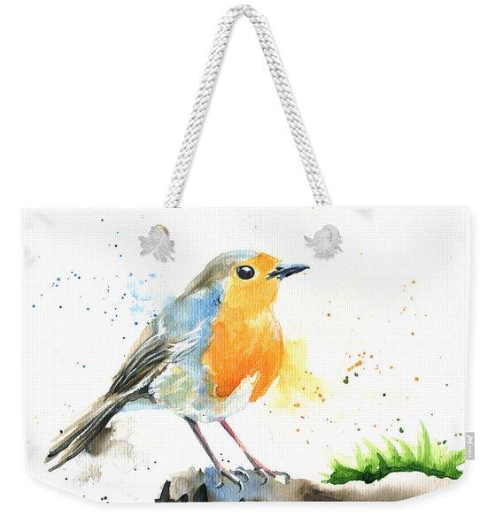 European Robin Weekender Tote Bag