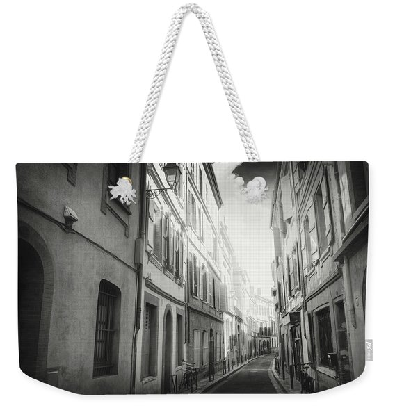 European Street Scenes Toulouse France Black And White Weekender Tote Bag