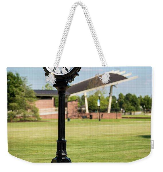 Evans Towne Center Park Clock - Columbia County Ga Weekender Tote Bag