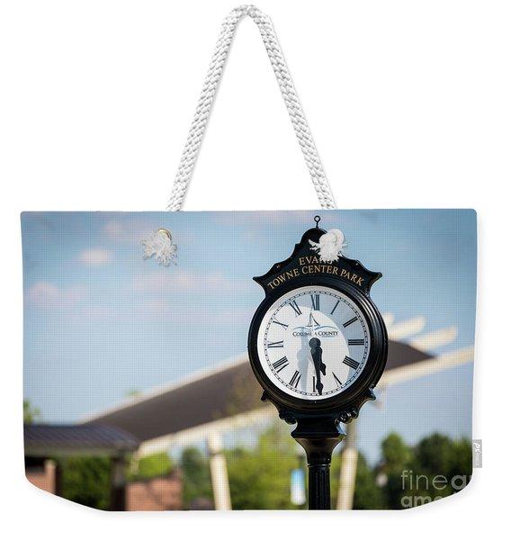 Evans Towne Center Park Clock - Evans Ga Weekender Tote Bag