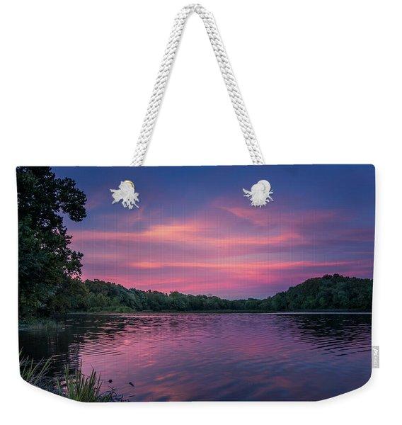 Evening At Springfield Lake Weekender Tote Bag