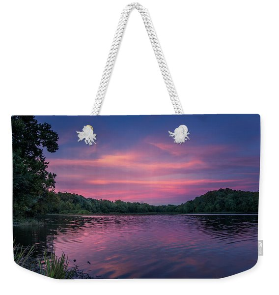 Evening At Springfield Lake Weekender Tote Bag