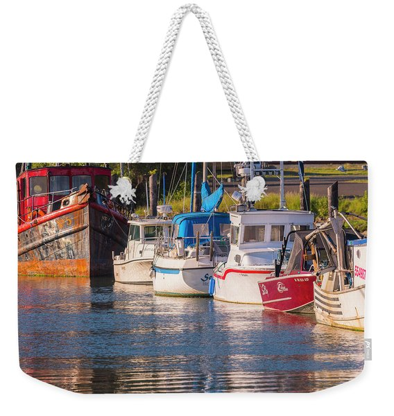 Evening At The Harbor Weekender Tote Bag