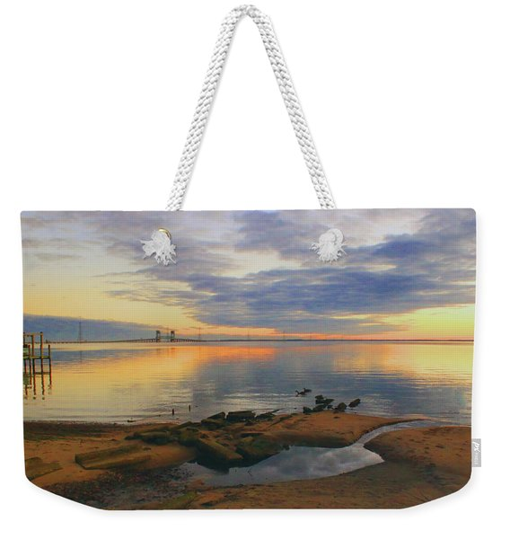 Evening By The James River Weekender Tote Bag
