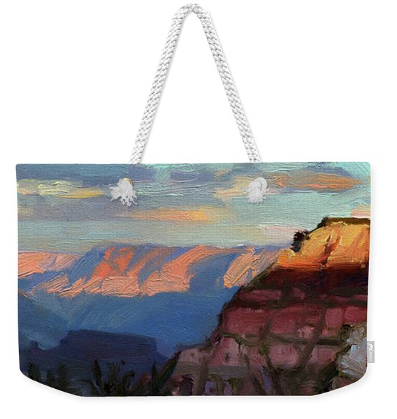 Evening Light At The Grand Canyon Weekender Tote Bag