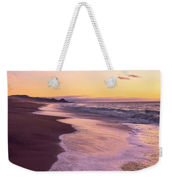 Weekender Tote Bag featuring the photograph Evening On Gleneden Beach by Whitney Goodey