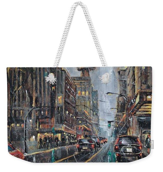 Evening Traffic II Weekender Tote Bag
