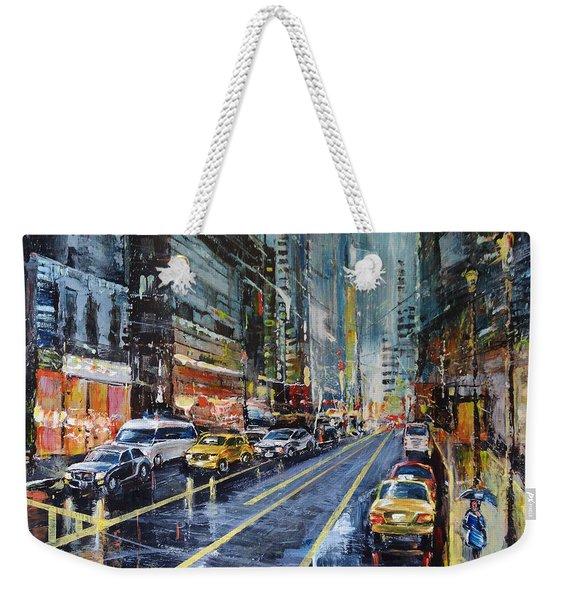 Evening Traffic Weekender Tote Bag