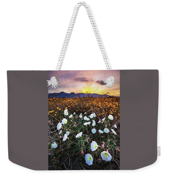 Evening With Primroses Weekender Tote Bag