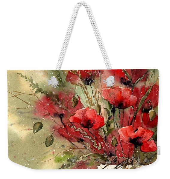 Everything About Poppies I Weekender Tote Bag