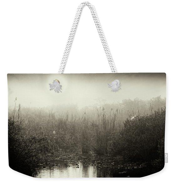 Eveverglades Sunrise In Black And White Weekender Tote Bag