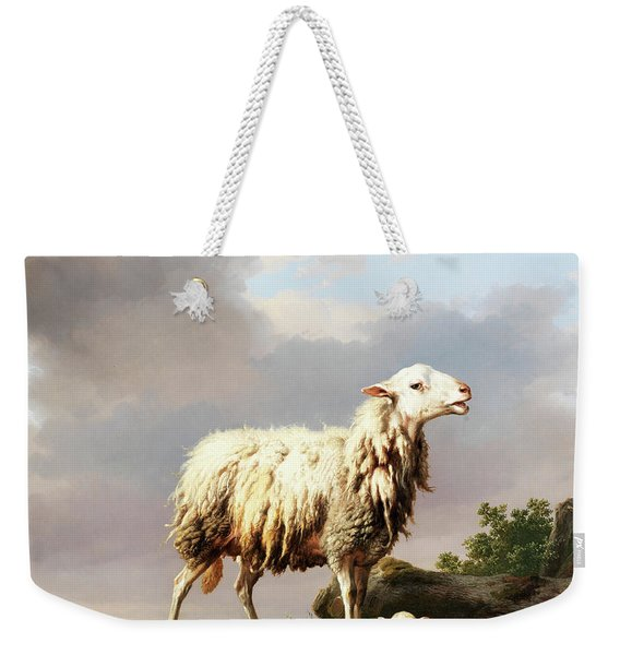 Ewe With Her New Born Lamb Weekender Tote Bag