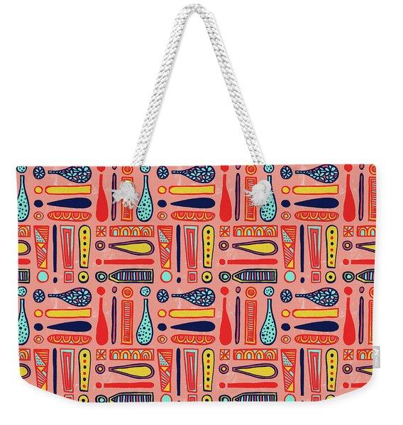 Exclamations Pattern Weekender Tote Bag