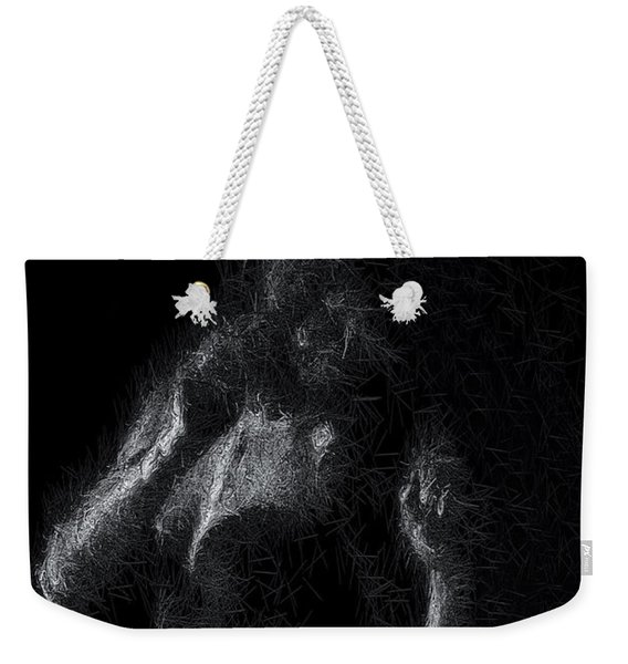Weekender Tote Bag featuring the digital art Exhale by ISAW Company