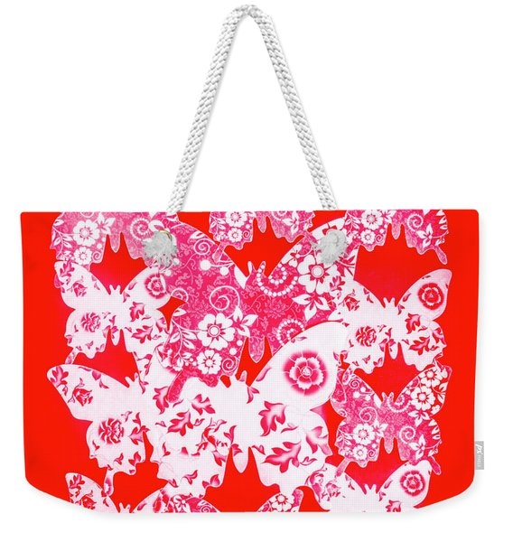 Exotic Red Wings Weekender Tote Bag