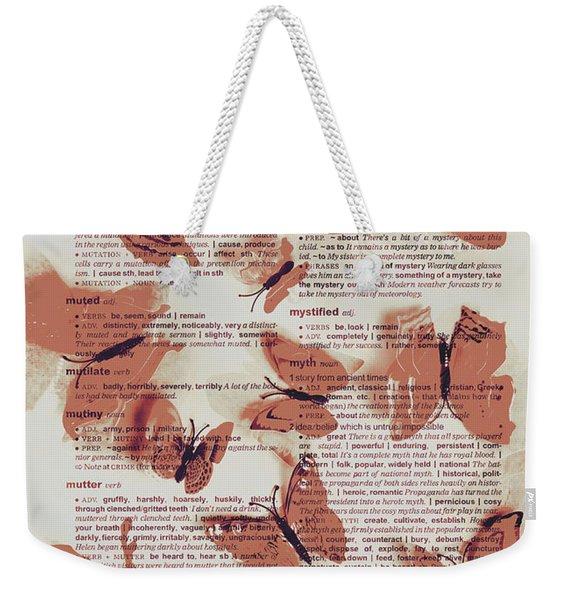 Exotic Scripts Weekender Tote Bag