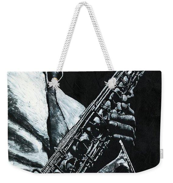 Expressive Sax Weekender Tote Bag