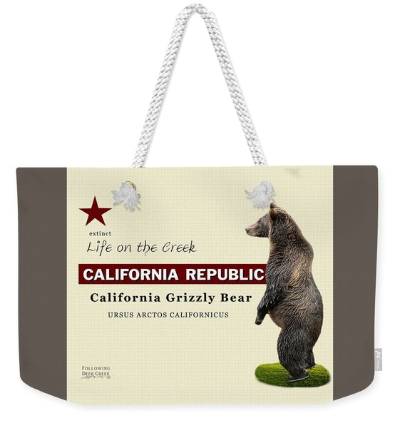 Extinct California Grizzly Bear Weekender Tote Bag