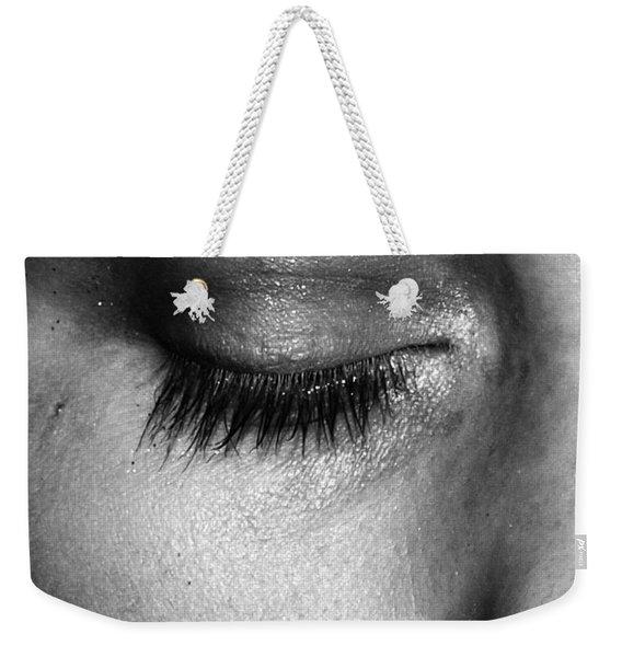 Eye, Closed  Weekender Tote Bag