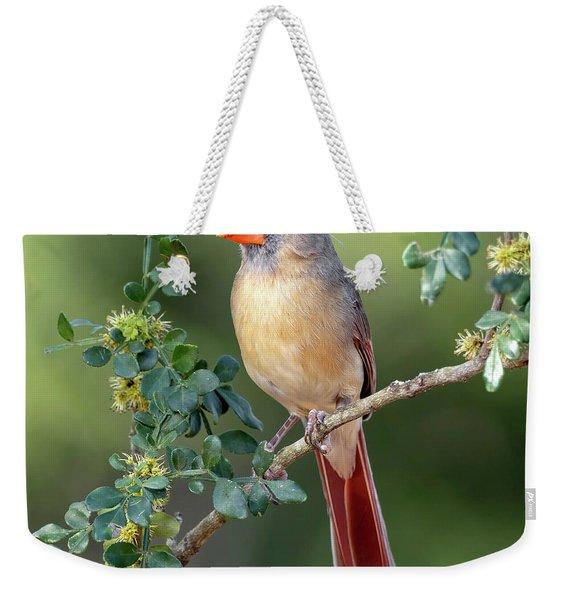 Fabulous Female Cardinal Weekender Tote Bag