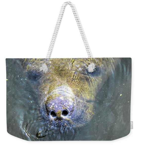 Face Of The Manatee Weekender Tote Bag