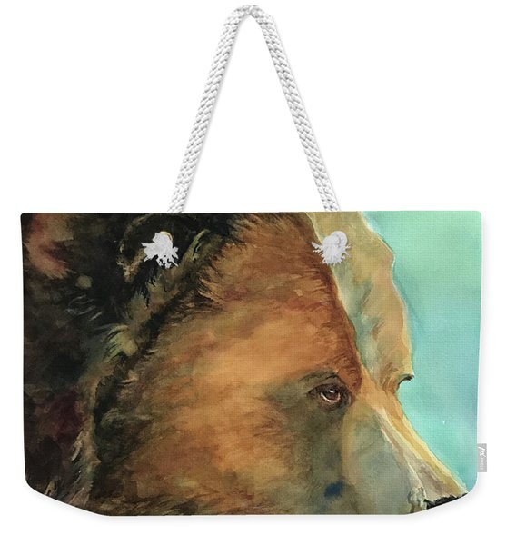 Face To Face Bear Weekender Tote Bag