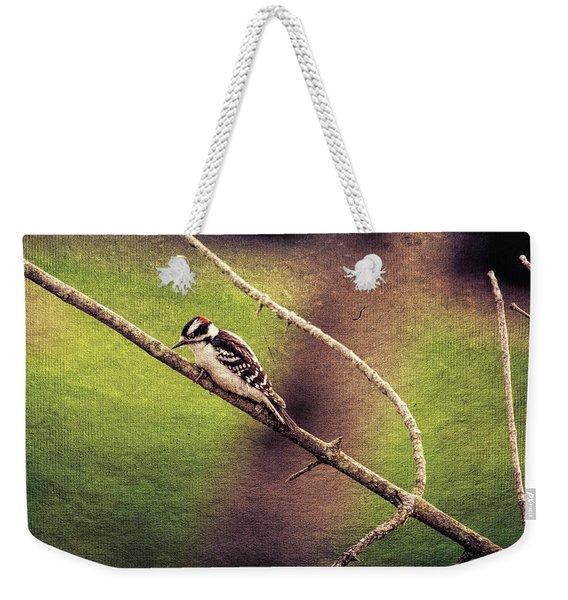 Faded Canvas Woodpecker Weekender Tote Bag
