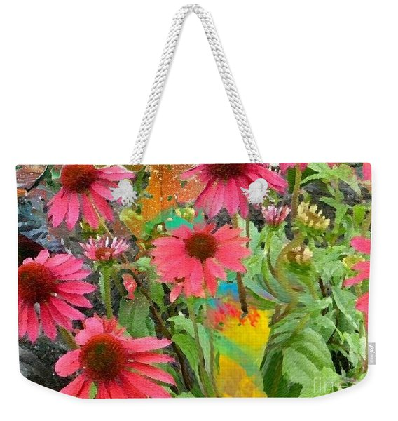 Fairy Among The Flowers Weekender Tote Bag