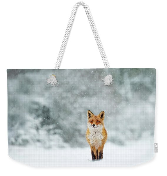 Fairytale Fox Series - Fox In A Blizzard Weekender Tote Bag