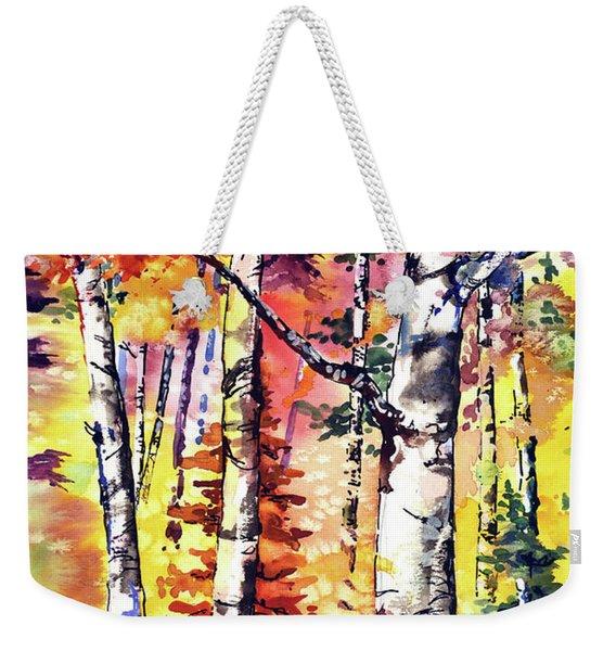Fall Aspen Colors Weekender Tote Bag