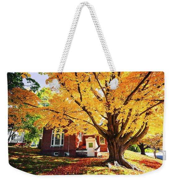 Fall At Goss Reading Room Weekender Tote Bag