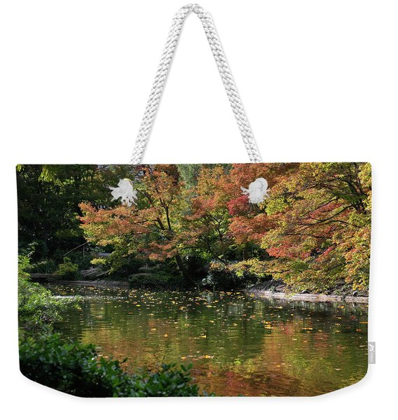 Fall At The Japanese Garden Weekender Tote Bag