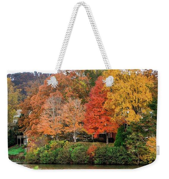 Fall At The Lake Weekender Tote Bag