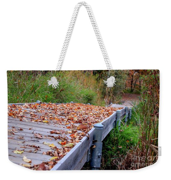 Fall Boardwalk Weekender Tote Bag