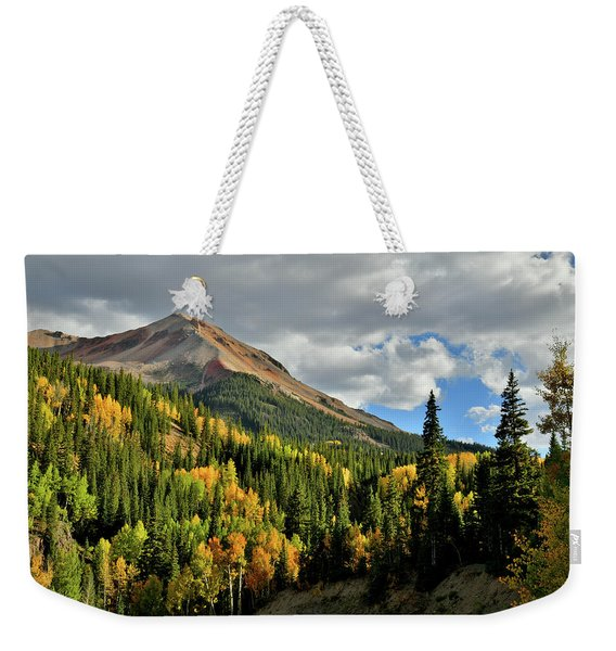 Fall Color Aspens Beneath Red Mountain Weekender Tote Bag