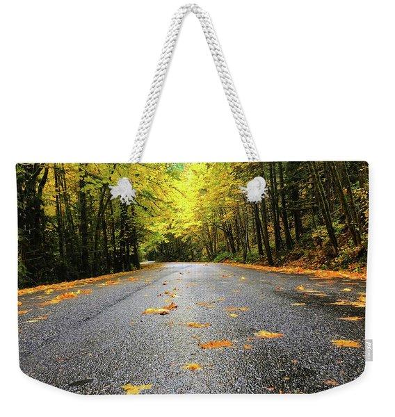 Fall Drive Weekender Tote Bag