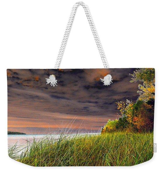 Fall On Lake Superior Weekender Tote Bag